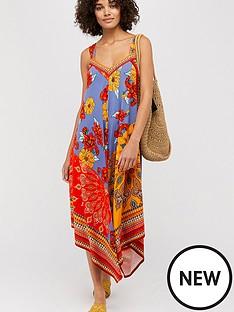 monsoon-jolene-jersey-scarf-print-maxi-dress-orange