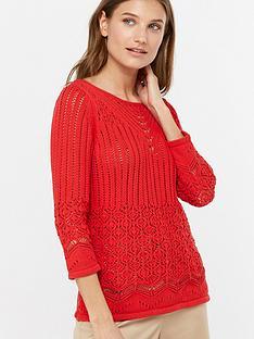 monsoon-christina-cotton-crochet-jumper-red