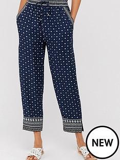 monsoon-tara-print-trousers-navy