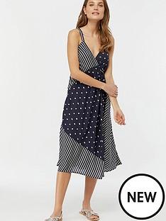 monsoon-eliza-dot-wrap-print-dress-navy