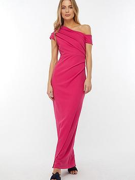 429a1346 Monsoon Senorita Drape Detail Maxi Dress - Pink | littlewoodsireland.ie