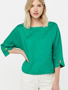 monsoon-adore-linen-t-shirt-green
