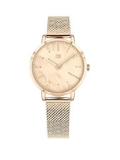 tommy-hilfiger-tommy-hilfiger-lily-blush-mother-of-pearl-dial-carnation-gold-stainless-steel-mesh-strap-ladies-watch