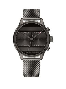 tommy-hilfiger-tommy-hilfiger-icon-grey-multi-dial-gunmetal-grey-stainless-steel-mesh-strap-mens-watch