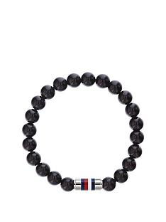 tommy-hilfiger-tommy-hilfiger-black-beaded-stainless-steel-clasp-mens-bracelet