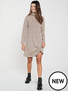 v-by-very-lightweight-knitted-roll-neck-dress-camel