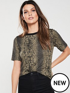 v-by-very-snake-print-t-shirt-khaki