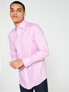 e57bf8649e4 Lauren by Ralph Lauren Long Sleeved Spread Collar Fitted Shirt - Pink