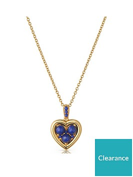 links-of-london-links-of-london-18ct-gold-plated-sterling-silver-lapis-lazuli-heart-pendant-necklace