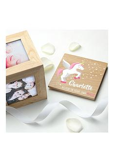personalised-baby-unicorn-photocube-believe-in-your-own-magic