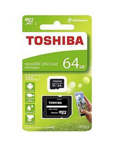 toshiba-64gb-microsd-memory-card-inc-adapter-100mbs