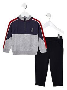 river-island-mini-mini-boys-funnel-neck-knit-jumper-outfit-grey