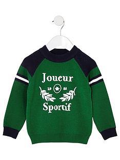 river-island-mini-mini-boys-joueur-sportifnbspjumper-green