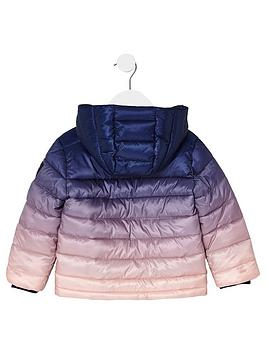 078ad50b12cd River Island Mini Mini Boys Navy Ombre Padded Jacket ...