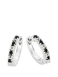 love-gem-9ct-white-gold-black-sapphire-11-point-diamond-huggie-hoop-earrings