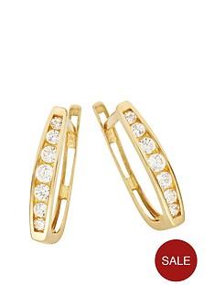 love-gold-9ct-gold-cubic-zirconia-latch-back-hoop-earrings