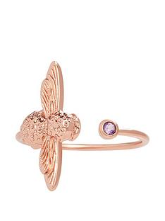 olivia-burton-olivia-burton-18kt-rose-gold-plated-amethyst-bejewelled-bee-ring