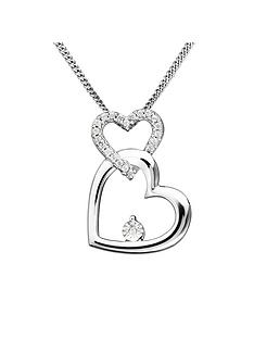 love-diamond-sterling-silver-diamond-set-interlocking-hearts-pendant-necklace