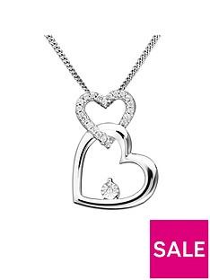 love-diamond-sterling-silver-diamond-set-interlocking-hearts-pendant-necklace