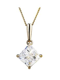 love-gold-9ct-gold-cubic-zirconia-diamond-shaped-pendant-necklace