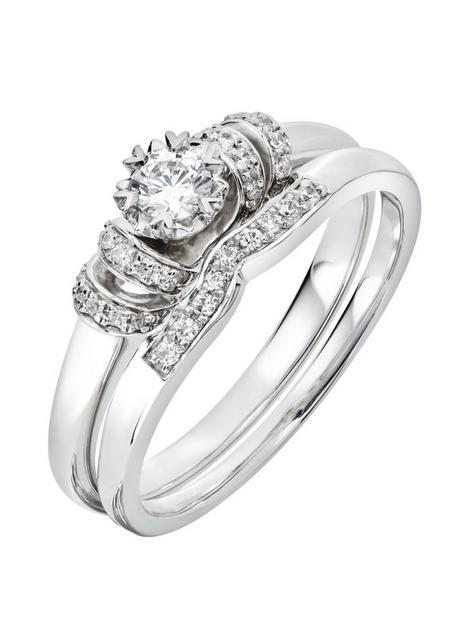 love-diamond-9ct-white-gold-29-point-diamond-vintage-look-bridal-set