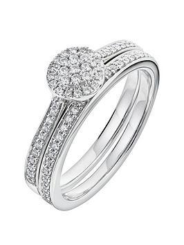love-diamond-9ct-white-gold-29-point-diamond-cluster-bridal-set
