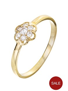 love-gold-9ct-gold-cubic-zirconia-flower-ring