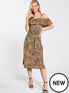 v-by-very-off-the-shoulder-midi-dress-animal-print