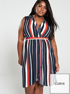 ax-paris-curve-sleeveless-wrap-midi-dress-stripe