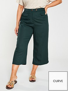 monsoon-curve-lana-linen-crop-trousers-green