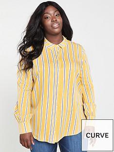 monsoon-curve-lola-stripe-shirt-ochre