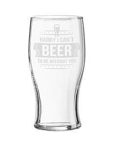 personalised-valentines-cant-beer-to-be-without-you-glass