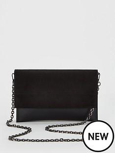 b8bfbb6d19aa V by Very Kristina Double Gusset Clutch Bag - Black