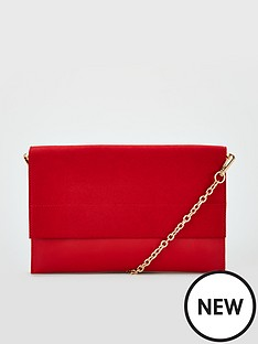 03d4767656d3 V by Very Kristina Double Gusset Clutch Bag - Red