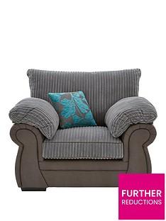 botanicnbspfaux-snakeskinfabric-armchair