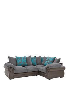 botanicnbspfaux-snakeskinfabric-right-hand-corner-group-scatter-back-sofa