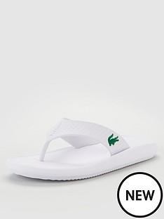 lacoste-croco-sandal-white