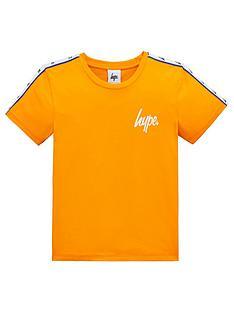 hype-boys-taped-short-sleeve-t-shirt-orange