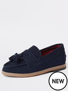 river-island-mini-boys-navy-tassel-loafers