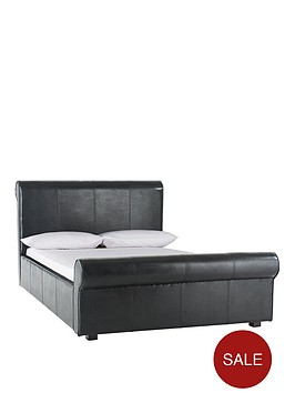 madrid-faux-leather-bed-frame-with-optional-mattress