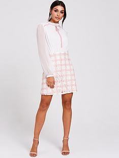 paper-dolls-paper-dolls-two-in-one-tie-neck-long-sleeve-dress