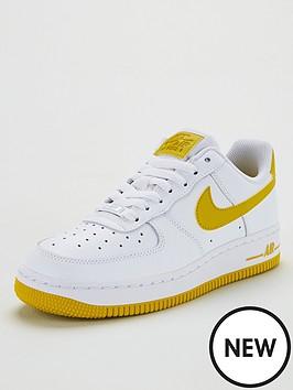 b8eb3567e22d48 Nike Air Force 1 '07 - White/Yellow   littlewoodsireland.ie