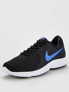 best sneakers 9ff13 50d61 Nike Revolution 4 - Black Blue