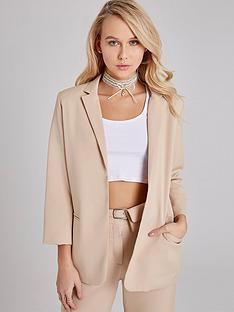 girls-on-film-biege-tailored-blazer