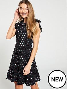 oasis-multi-spot-button-skater-dress