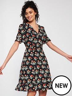 oasis-petunia-button-skater-dress