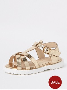 river-island-mini-girls-gold-clumpy-sandals