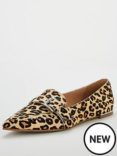 v-by-very-mecca-real-leather-point-fashion-loafers-animal-print