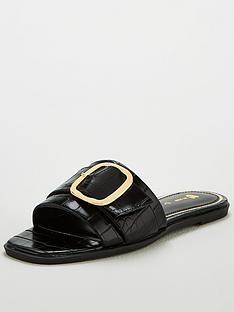 v-by-very-hebe-flat-buckle-sliders-black