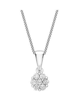 love-diamond-9ct-white-gold-10-point-diamond-cluster-pendant-necklace